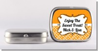 Modern Thatch Orange - Personalized Mint Tins