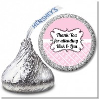 Modern Thatch Pink - Hershey Kiss Sticker Labels