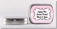 Modern Thatch Pink - Personalized Mint Tins