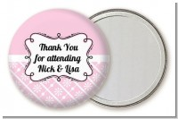 Modern Thatch Pink - Personalized Pocket Mirror Favors