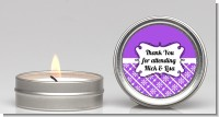 Modern Thatch Purple - Candle Favors