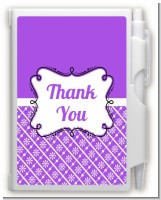 Modern Thatch Purple - Personalized Notebook Favor