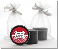 Modern Thatch Red - Black Candle Tin Favors