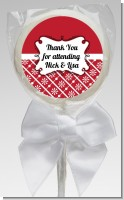 Modern Thatch Red - Personalized Lollipop Favors