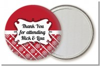 Modern Thatch Red - Personalized Pocket Mirror Favors