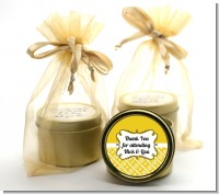 Modern Thatch Yellow - Gold Tin Candle Favors