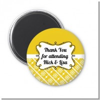 Modern Thatch Yellow - Personalized Magnet Favors