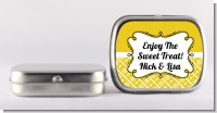 Modern Thatch Yellow - Personalized Mint Tins