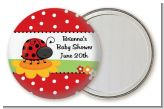 Modern Ladybug Red - Personalized Baby Shower Pocket Mirror Favors
