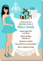 Modern Mommy Crib It's A Boy - Baby Shower Invitations