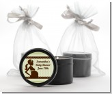 Mommy Silhouette It's a Baby - Baby Shower Black Candle Tin Favors