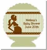 Mommy Silhouette It's a Baby - Personalized Baby Shower Centerpiece Stand