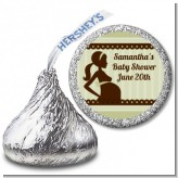 Mommy Silhouette It's a Baby - Hershey Kiss Baby Shower Sticker Labels
