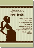 Mommy Silhouette It's a Baby - Baby Shower Invitations