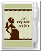 Mommy Silhouette It's a Baby - Baby Shower Personalized Notebook Favor