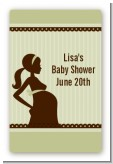 Mommy Silhouette It's a Baby - Custom Large Rectangle Baby Shower Sticker/Labels