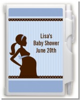 Mommy Silhouette It's a Boy - Baby Shower Personalized Notebook Favor