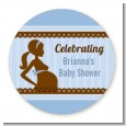 Mommy Silhouette It's a Boy - Personalized Baby Shower Table Confetti thumbnail