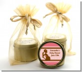 Mommy Silhouette It's a Girl - Baby Shower Gold Tin Candle Favors