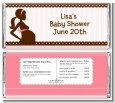 Mommy Silhouette It's a Girl - Personalized Baby Shower Candy Bar Wrappers thumbnail