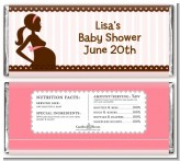 Mommy Silhouette It's a Girl - Personalized Baby Shower Candy Bar Wrappers