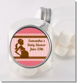 Mommy Silhouette It's a Girl - Personalized Baby Shower Candy Jar