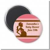 Mommy Silhouette It's a Girl - Personalized Baby Shower Magnet Favors