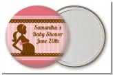 Mommy Silhouette It's a Girl - Personalized Baby Shower Pocket Mirror Favors