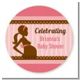 Mommy Silhouette It's a Girl - Personalized Baby Shower Table Confetti thumbnail
