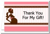 Mommy Silhouette It's a Girl - Baby Shower Thank You Cards