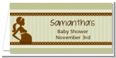Mommy Silhouette It's a Baby - Personalized Baby Shower Place Cards