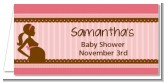 Mommy Silhouette It's a Girl - Personalized Baby Shower Place Cards