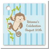 Monkey Boy - Personalized Baby Shower Card Stock Favor Tags
