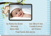 Monkey Boy - Birth Announcement Photo Card