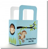 Monkey Boy - Personalized Baby Shower Favor Boxes