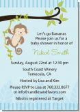 Monkey Boy - Baby Shower Invitations