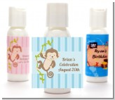 Monkey Boy - Personalized Baby Shower Lotion Favors