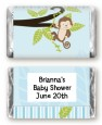 Monkey Boy - Personalized Baby Shower Mini Candy Bar Wrappers thumbnail