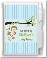 Monkey Boy - Baby Shower Personalized Notebook Favor