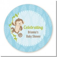 Monkey Boy - Personalized Baby Shower Table Confetti