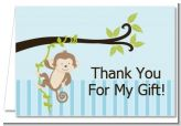 Monkey Boy - Baby Shower Thank You Cards