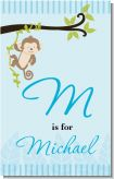 Monkey Boy - Personalized Baby Shower Nursery Wall Art