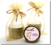 Monkey Girl - Baby Shower Gold Tin Candle Favors