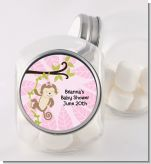 Monkey Girl - Personalized Baby Shower Candy Jar
