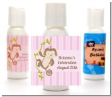Monkey Girl - Personalized Baby Shower Lotion Favors