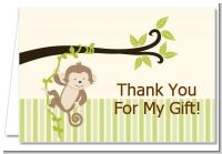 Monkey Neutral - Birthday Party Thank You Cards