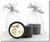 Monkey Neutral - Baby Shower Black Candle Tin Favors