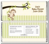 Monkey Neutral - Personalized Baby Shower Candy Bar Wrappers