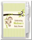 Monkey Neutral - Baby Shower Personalized Notebook Favor