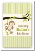 Monkey Neutral - Custom Large Rectangle Baby Shower Sticker/Labels